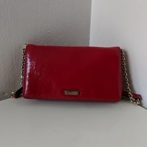Kate Spade red patent leather clutch - never worn!